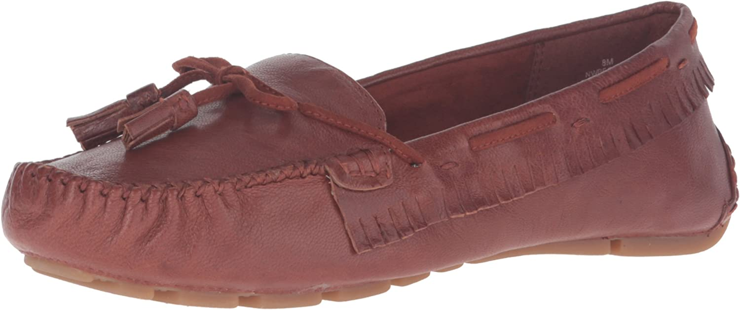 Nine West Womens Begone Leather Moccasin