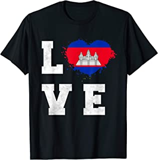 Cambodia Flag I Love Cambodia T-Shirt