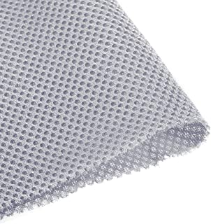 uxcell Light Grey Speaker Mesh Grill Cloth (not Cane Webbing) Stereo Box Fabric Dustproof Audio Cloth 100cm x 160cm 40 inc...