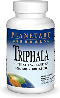 Planetary Herbals Triphala Internal Cleanser 1000mg For GI Tract Wellness - 180 Tablets