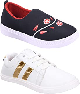 Shoefly Women's (9041-765) Multicolor Casual Sports Running (Set of 2 Pair)