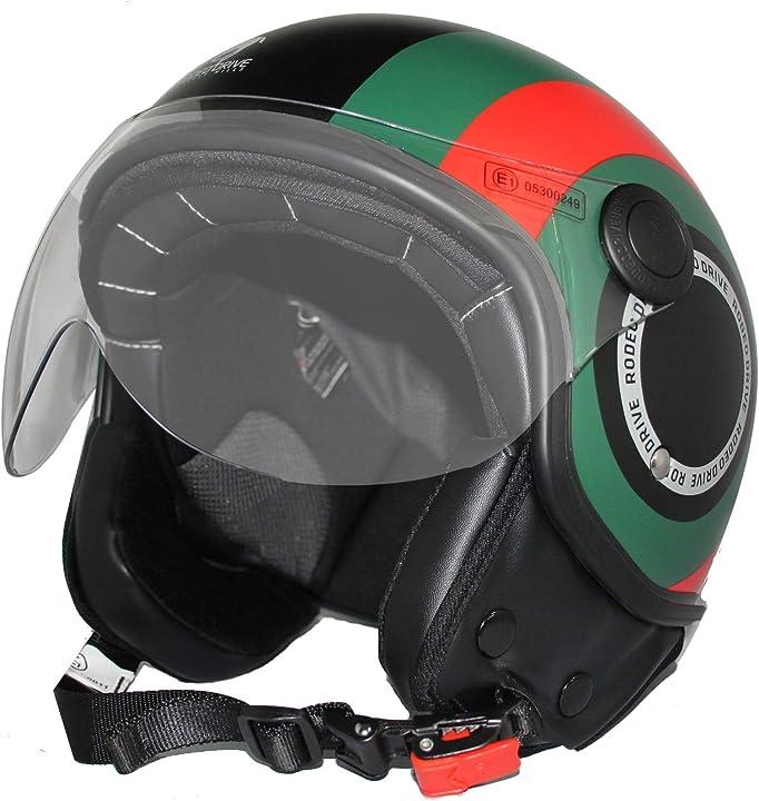 Casco demi jet scooter, nero, xs rodeo drive rd105n lux B08N7GQQ77
