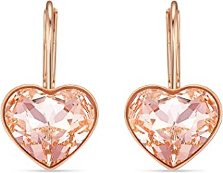 SWAROVSKI Women's Bella Earrings Collection, Pink Crystals, Clear Crystals