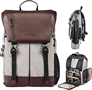 TARION RB-02 Camera Backpack with Waterproof Rain Cover and Laptop Compartment for SLR/DSLR/Mirrorless Cameras Photographer Backpack