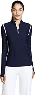 Women's Parallel Stripe Reflective Quarter Zip Pullover