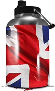 Skin Decal Wrap for 2017 RTIC One Gallon Jug Union Jack 01 (Jug NOT INCLUDED) by WraptorSkinz