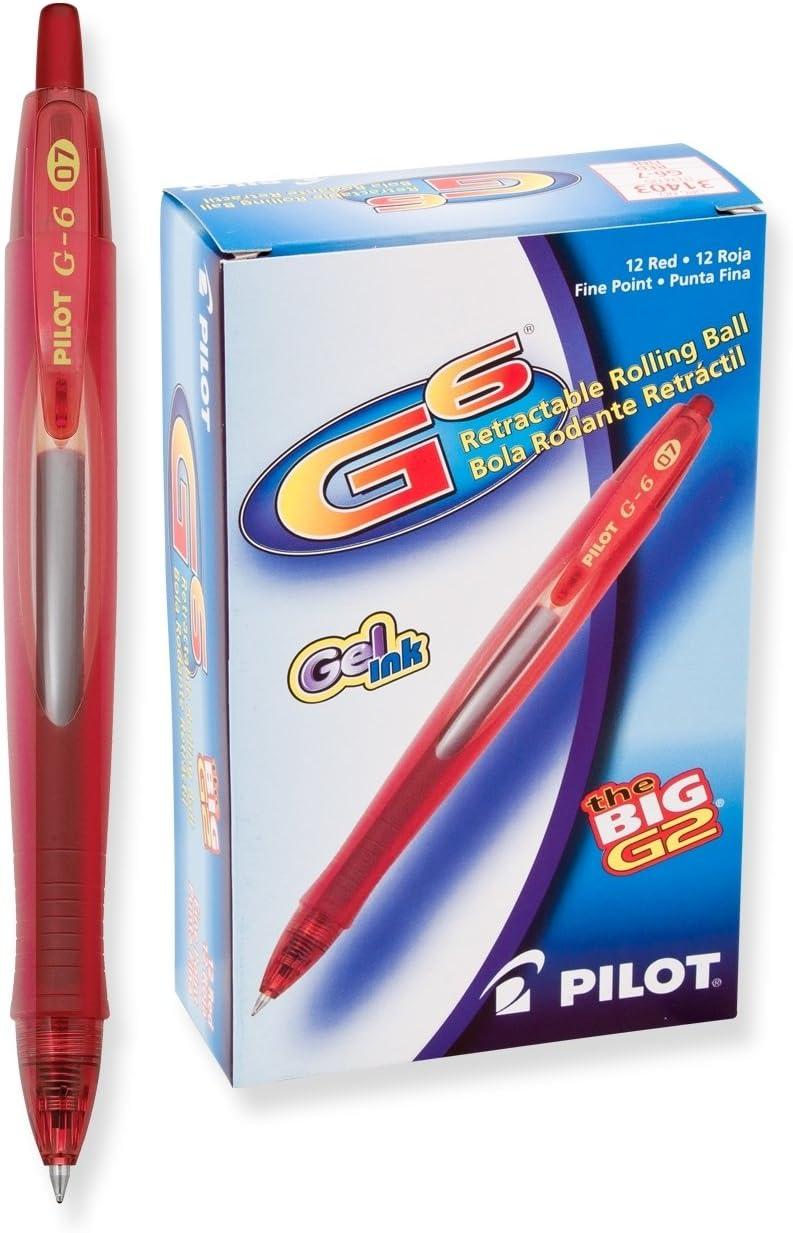 PILOT G6 Refillable Retractable safety Gel Ball Fine Pen Ultra-Cheap Deals Rolling Ink