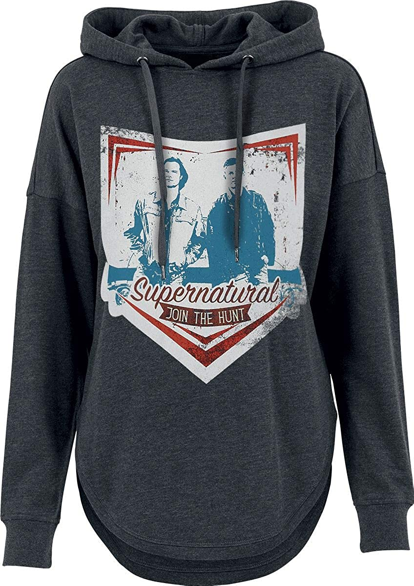 Supernatural Join The Hunt Mujer Sudadera con Capucha Gris Marengo
