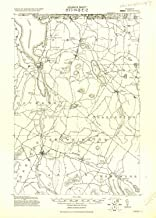 YellowMaps Derby VT topo map, 1:62500 Scale, 15 X 15 Minute, Historical, 1920, 21.6 x 15.5 in