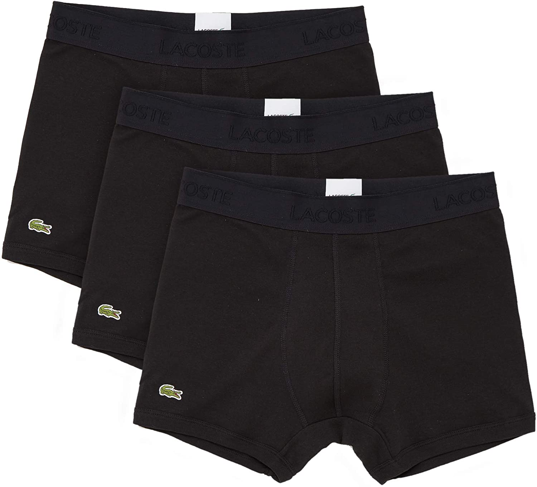 Lacoste Men's Essentials Classic 3 Pack 100% Cotton Trunks