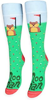 FREAKER Feet, Unisex Casual Dress Fun Colorful Cotton Crew Socks, Noonan Gopher Golf