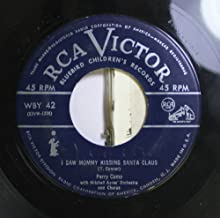 PERRY COMO 45 RPM I SAW MOMMY KISSING SANTA CLAUS / RUDOLPH THE RED-NOSED REINDEER