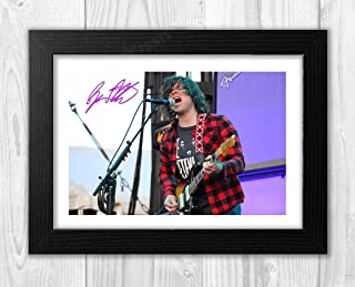 Engravia Digital Ryan Adams (2) Reproduction Autograph Picture Poster Photo A4 Print (Black Frame)