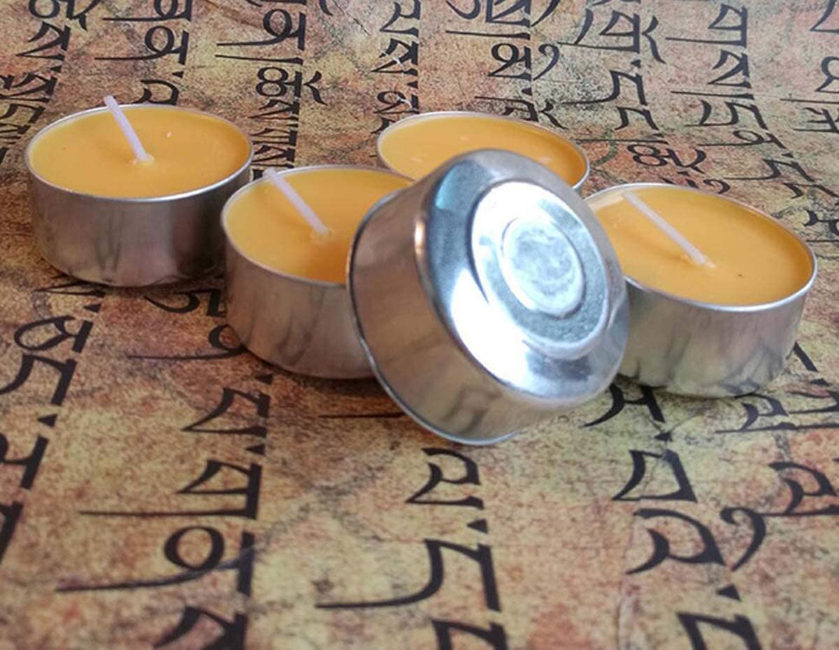 Tibetan Chicago Mall Buddhist Gorgeous Tealight Vanaspati Ghee 100 Candle Butter Lamp