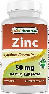Best Naturals Zinc Supplement as Zinc Gluconate 50mg 240 Tablets - Immune Support