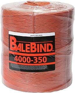 BaleBind Baler Twine - Weather Resistant Strong Thick Tie - 4,000 Feet Long Orange