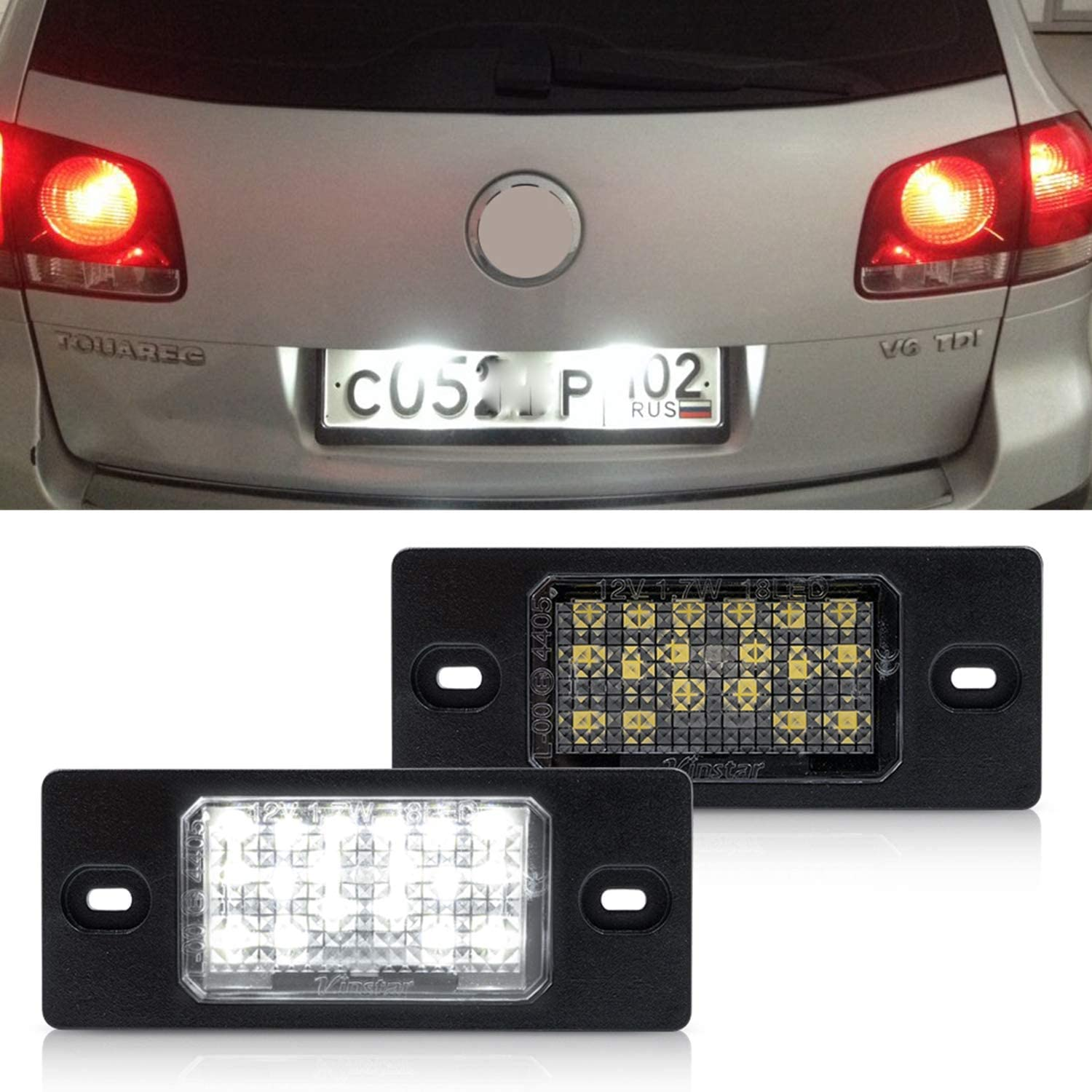 White LED License Plate Lights for Licens NSLUMO Led Fixed price sale VW Clearance SALE! Limited time! Number -