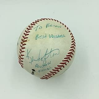 kenny lofton signed baseball