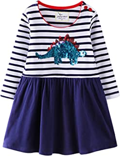 Wemoyami Cool Sequin Shirt Dresses for Girls Long Sleeve Autumn Clothes for Kids