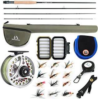 M MAXIMUMCATCH Maxcatch Extreme Fly Fishing Combo Kit 3/5/6/8 Weight, Starter Fly Rod and Reel Outfit, with a Protective T...