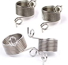 4 Pieces 2 Size Metal Yarn Guide Finger Holder Knitting Thimble for Crochet Knitting Crafts Accessories Tool, 15MM and 17MM