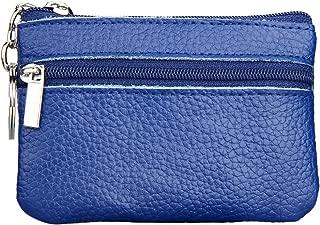 Wiwsi Mini pu Leather Wallet Zipper Pouch Style Card Holder Coin Purse Handbag