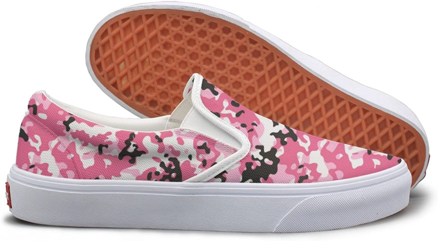 SEERTED Pink Camouflage Cargo Womens Running Sneakers