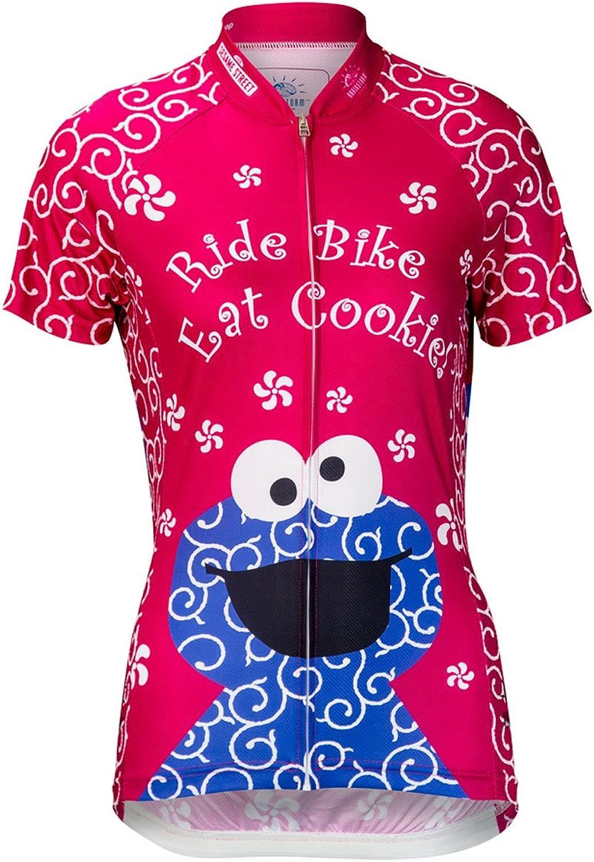 Brainstorm Gear Women's Cookie Monster Pink Cycling Jersey  SSCCW