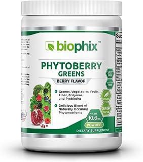 Sponsored Ad - Phytoberry Greens Superfood Powder 10 oz - Natural Berry Flavor | Greens | Vegetables | Fruits | Fiber | Pr...