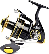 Fairiland Spinning Fishing Reel, 10+1 BB Light Weight Ultra Smooth 7000/8000/10000 4.2:1 Gear Ratio Left/Right Interchangeable Front Drag CNC Handle Aluminum Spool Fishing Reels