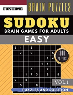 SUDOKU Easy: 300 easy sudoku with answers brain games for adults Activities Book sudoku for seniors (sudoku book easy Vol.1)