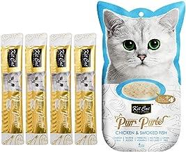Kit-Cat Purr Puree Chicken & Smoked Fish Wet Cat Treat Tubes 4x15g