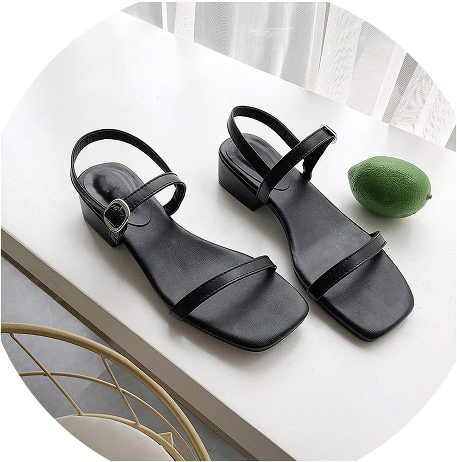 Women Sandals Summer Wild Rough with Casual shoes