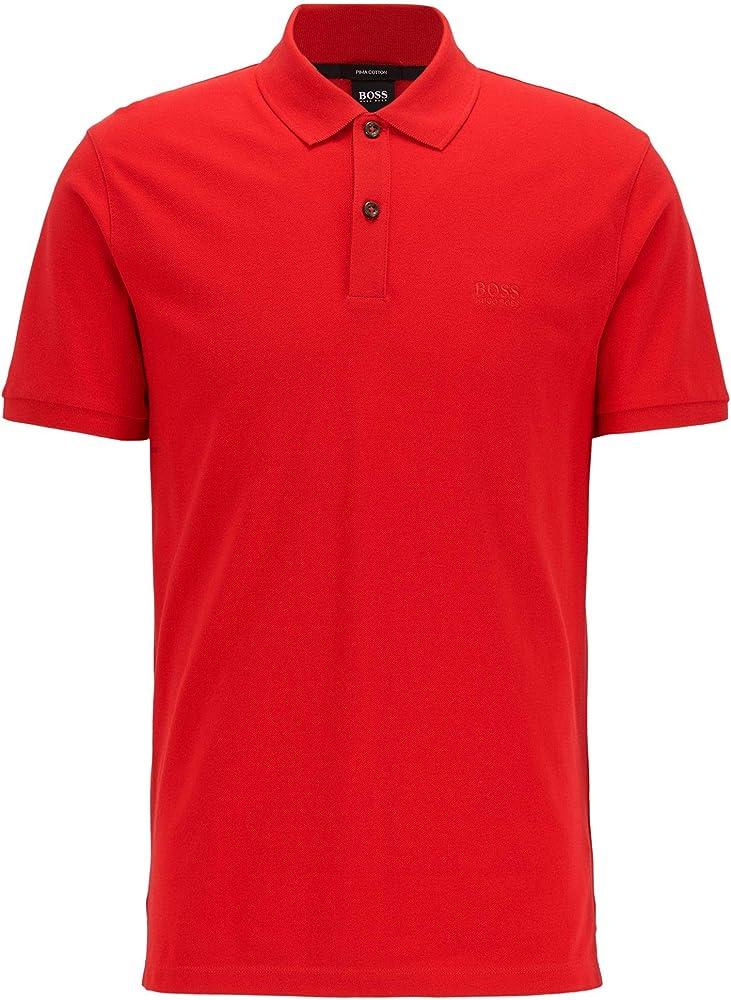 Hugo boss  polo,maglietta a mezza manica con bottoni,100% cotone. 50425985/PALLAS/628