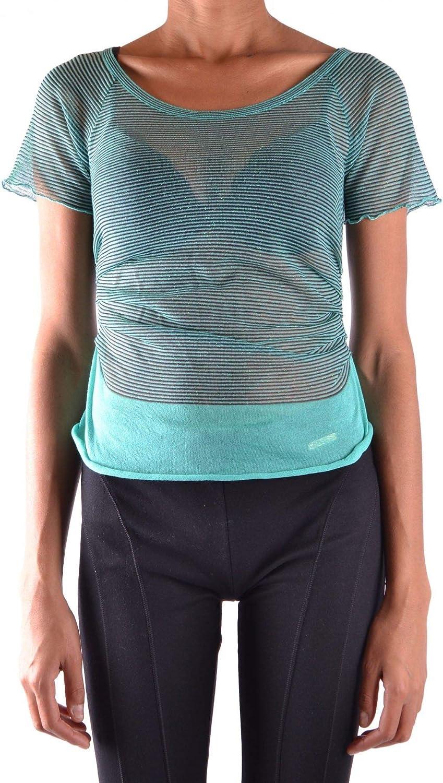Fabrizio Del Carlo Women's MCBI15855 Green Cotton Top