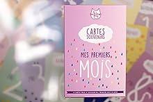 Kit de 15 cartes souvenirs pour son bébé | Cartes étapes pour les premiers mois de son bébé | Création et impression en France