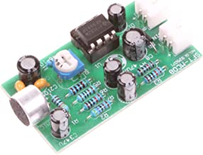 NOYITO 12V High-fidelity Microphone Pickup Module Noise Reduction Microphone Amplifier Board High Sensitivity Kit - Adjustable sensitivity