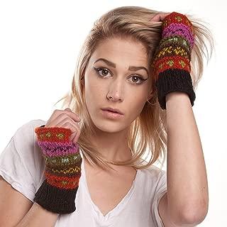 Winter wonder soft fingerless Fleece Lined Hand Knit gloves for typing & driving
