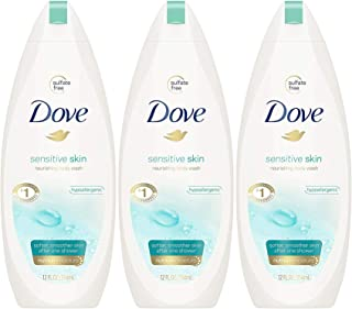 Dove Sensitive Skin Nourishing Body Wash, 12 Fluid Ounce (Pack of 3)