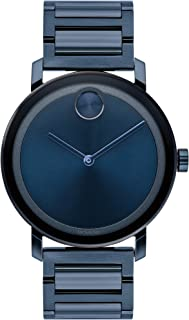 Movado Men's BOLD Evolution Blue PVD Watch with a Flat Dot Sunray Dial, Blue (Model 3600510)