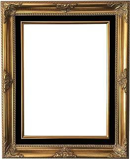West Frames Estelle Antique Wood Baroque Picture Frame (Gold Black Velveteen Liner, 16