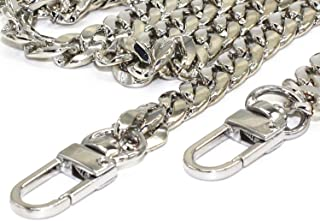 Model Worker DIY Iron Flat Chain Strap Handbag Chains Purse Chain Straps Shoulder Cross Body Replacement Straps with Metal...