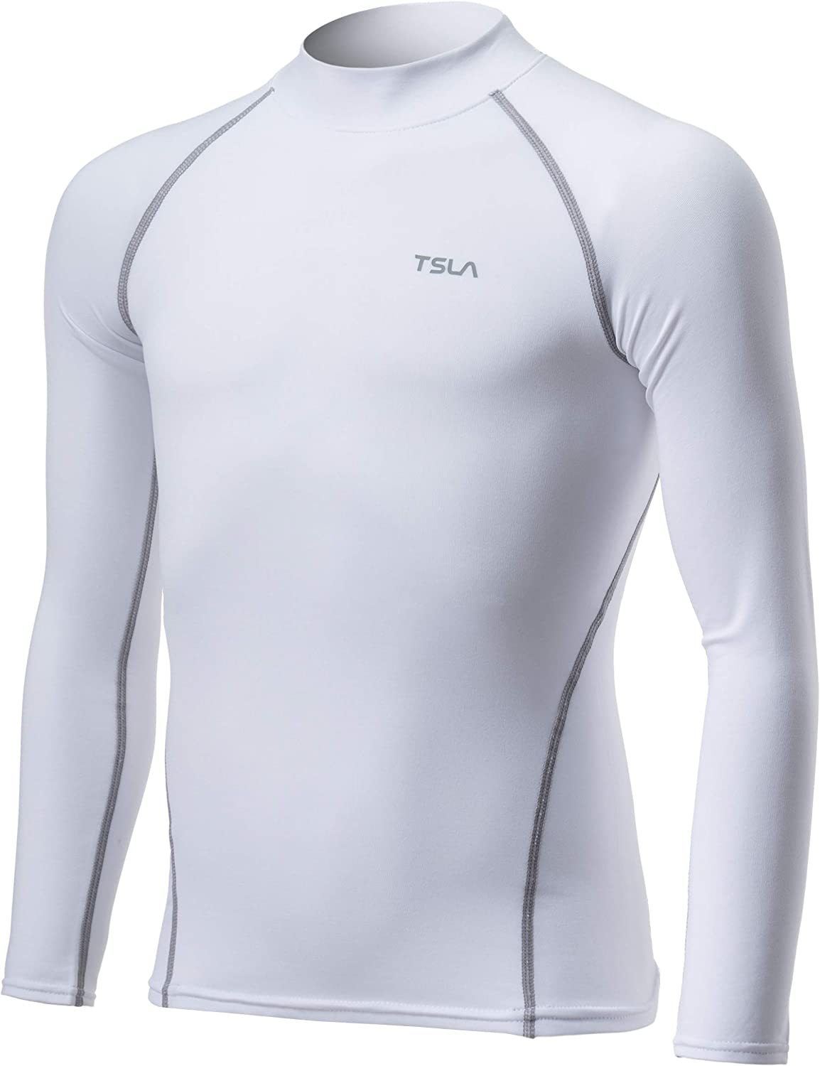 TSLA Kid's & Boy's and Girl's Thermal Long Sleeve Tops, Crew Neck Fleece Lined Compression Base Layer Shirts