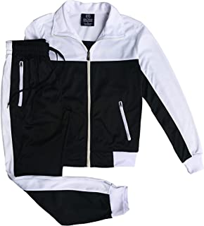 Women Two Tone Activewear Sports Jogger Track Set Gym Outfit