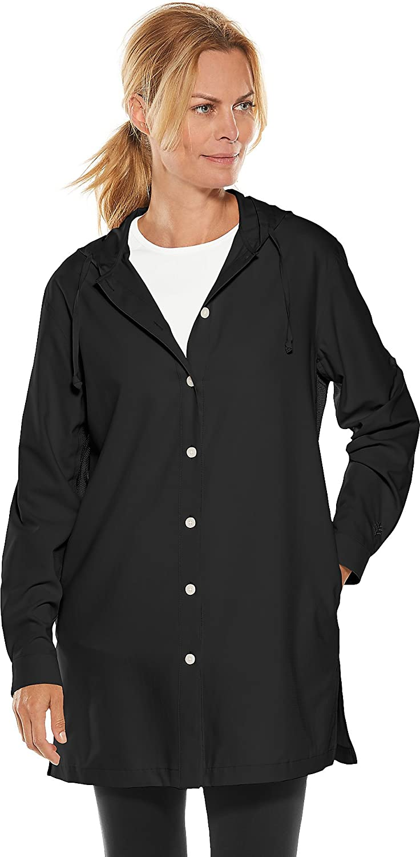 Coolibar UPF 50+ Women's Beach Shirt  Sun Predective (XXLarge Black)