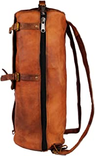 TUZECH 22 Inch Leather Duffle Bag Cum Backpack for Travel Weekend