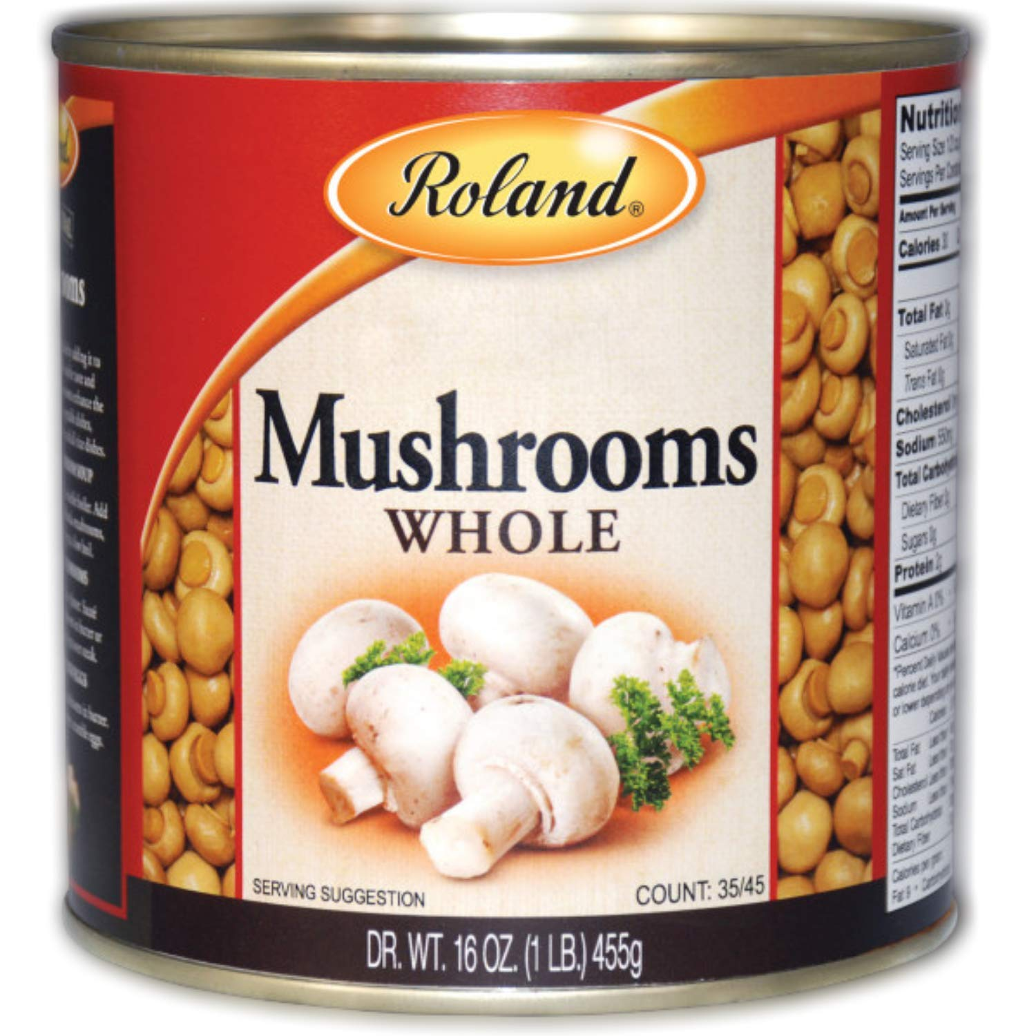 Roland Foods Whole Medium and Large Button Mushrooms
