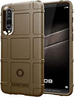 QFH Full Coverage Shockproof TPU Case for Huawei P30 (Army Green) new style phone case (Color : Brown)