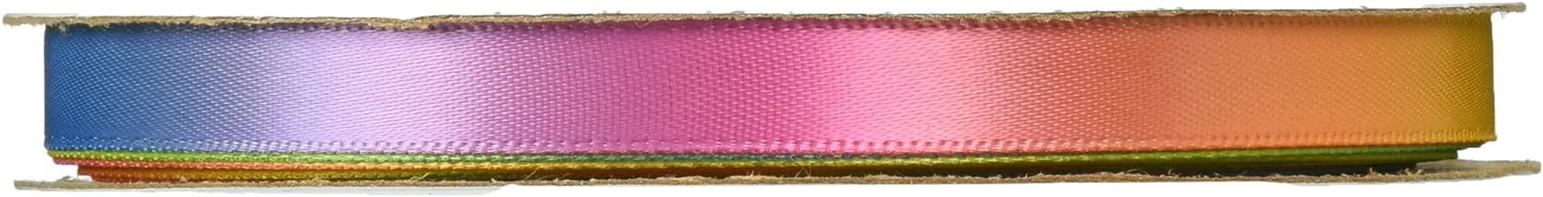 Offray 126561 Sunburst Craft Ribbon, 3/8-Inch Wide by 10-Yard Spool, Rainbow