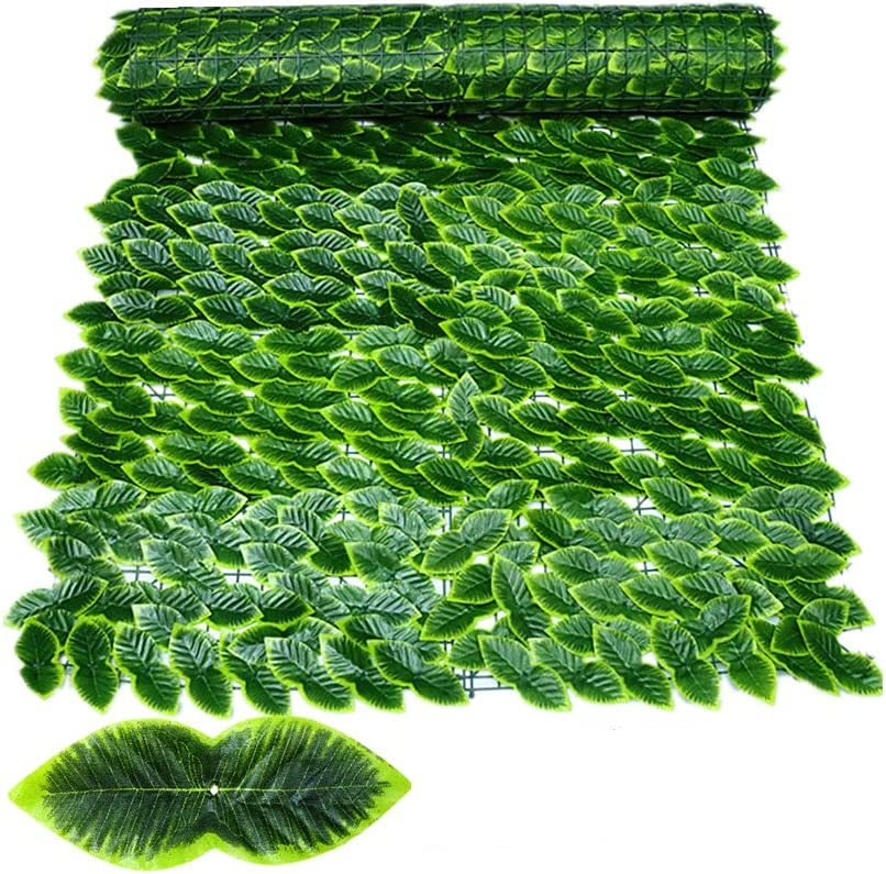 Artificial Ivy Privacy Fence Screen, Hedges Fence and Faux Ivy Vine Leaf Wall Screen Decorative for Garden (Style2 118x39.4in)